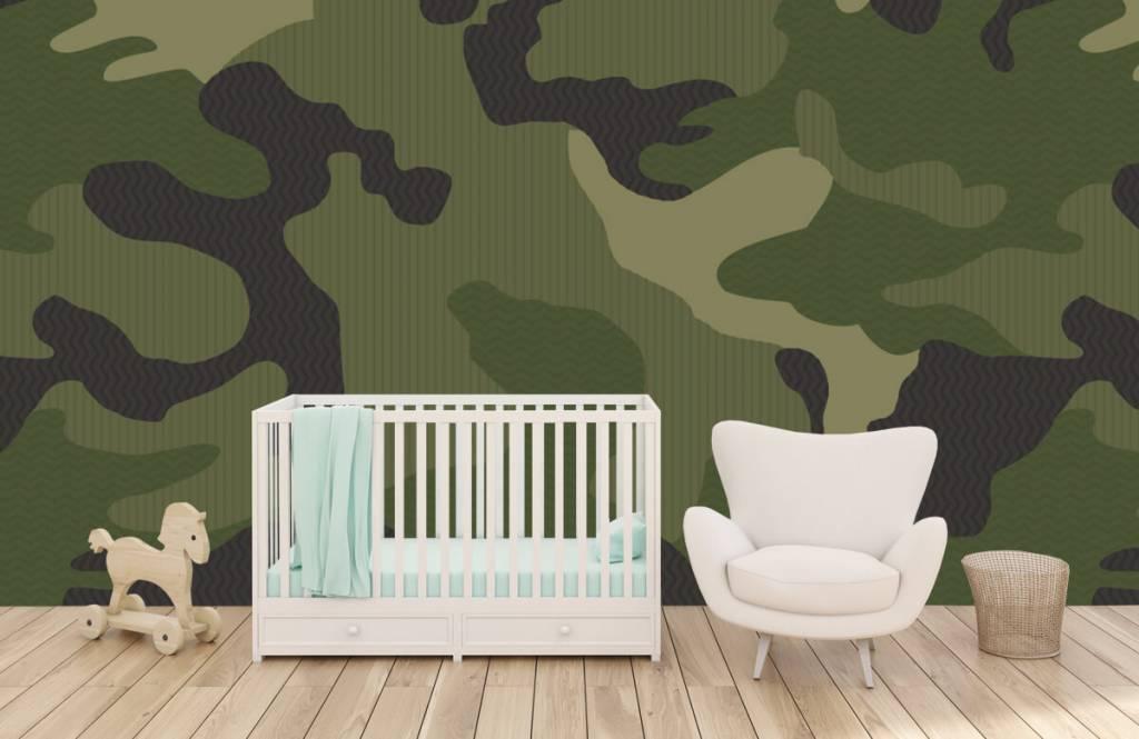 Papier peint enfants - Camouflage vert - Chambre des enfants 6
