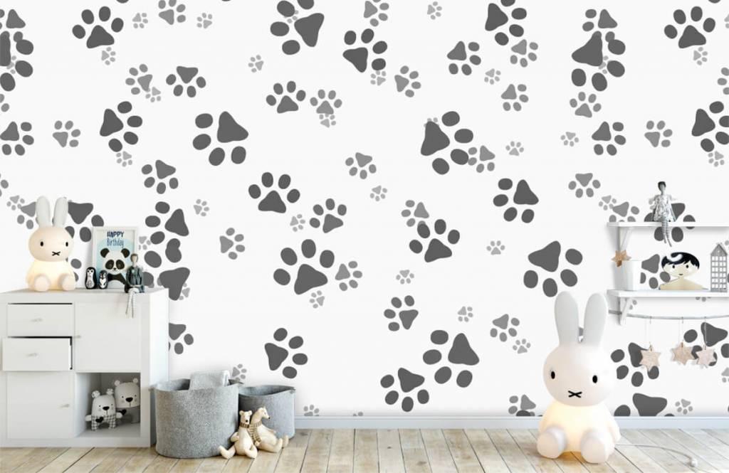 Papier peint enfants - Jambes de chien - Chambre des enfants 1
