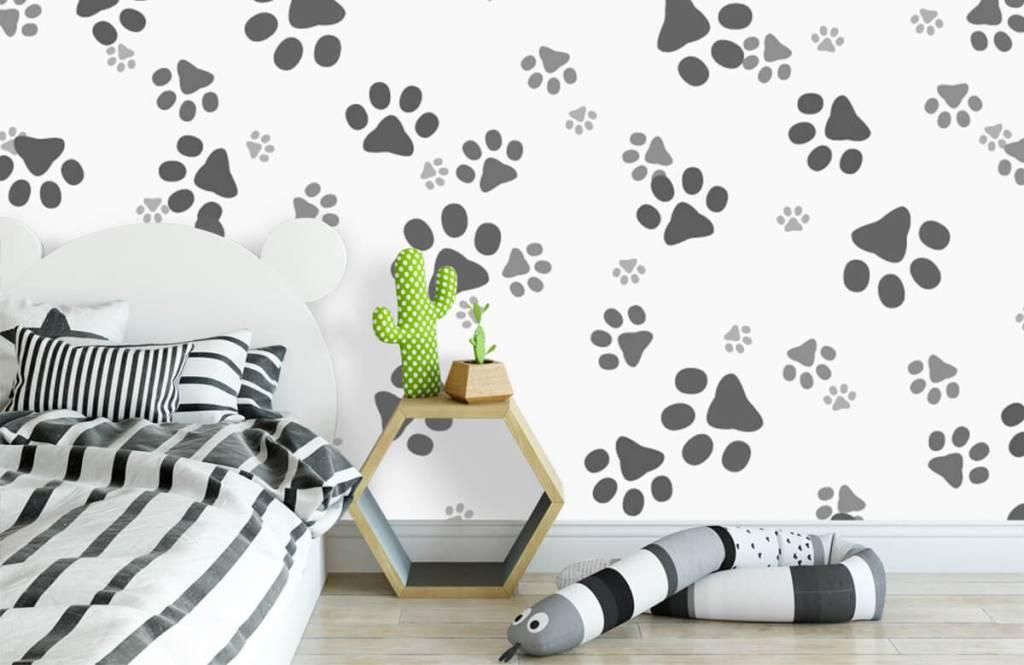 Papier peint enfants - Jambes de chien - Chambre des enfants 3