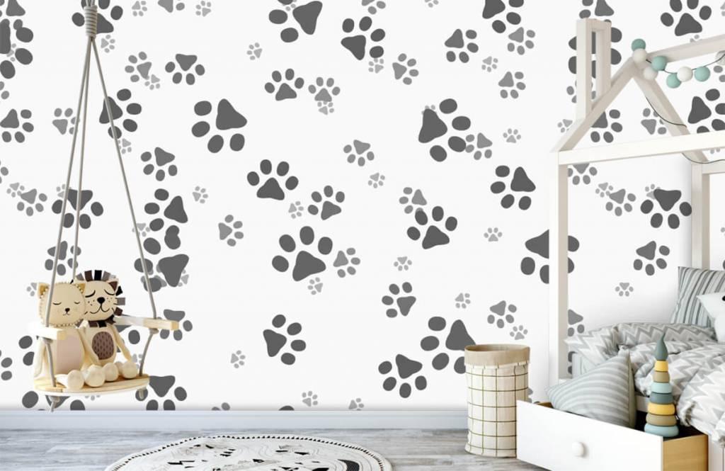 Papier peint enfants - Jambes de chien - Chambre des enfants 4