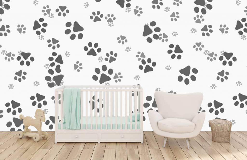 Papier peint enfants - Jambes de chien - Chambre des enfants 5