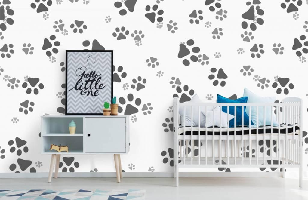Papier peint enfants - Jambes de chien - Chambre des enfants 6