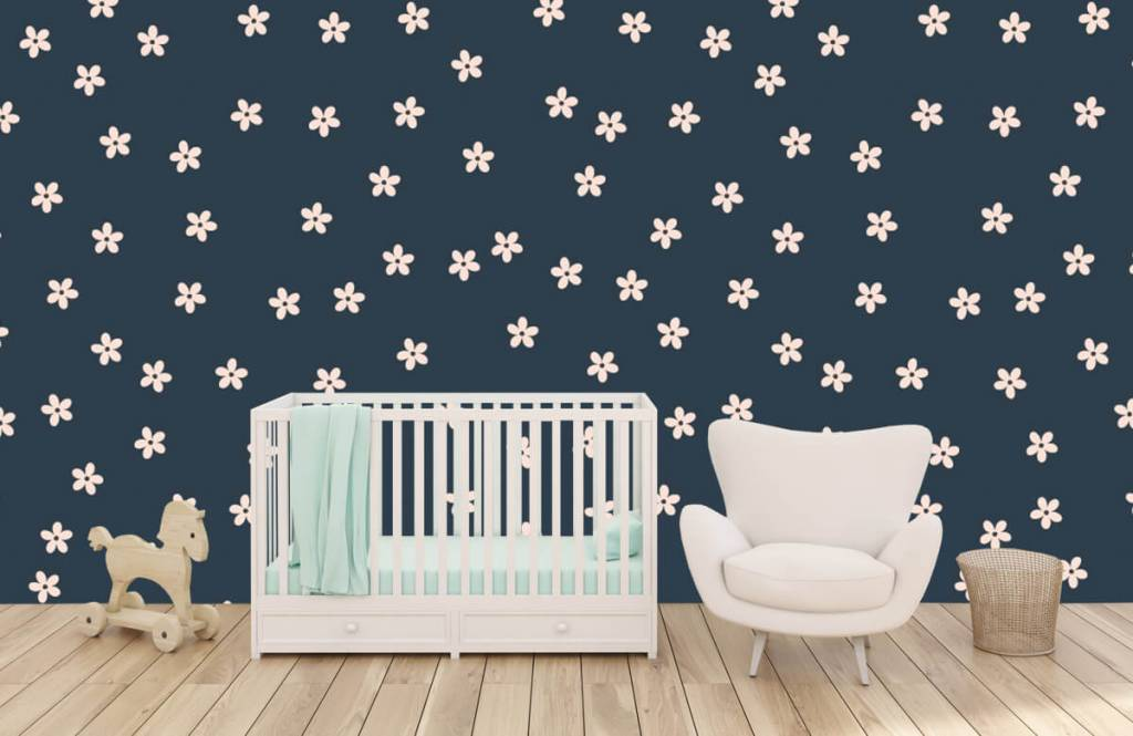 Patterns for Kidsroom - Petites fleurs roses - Chambre des enfants 6
