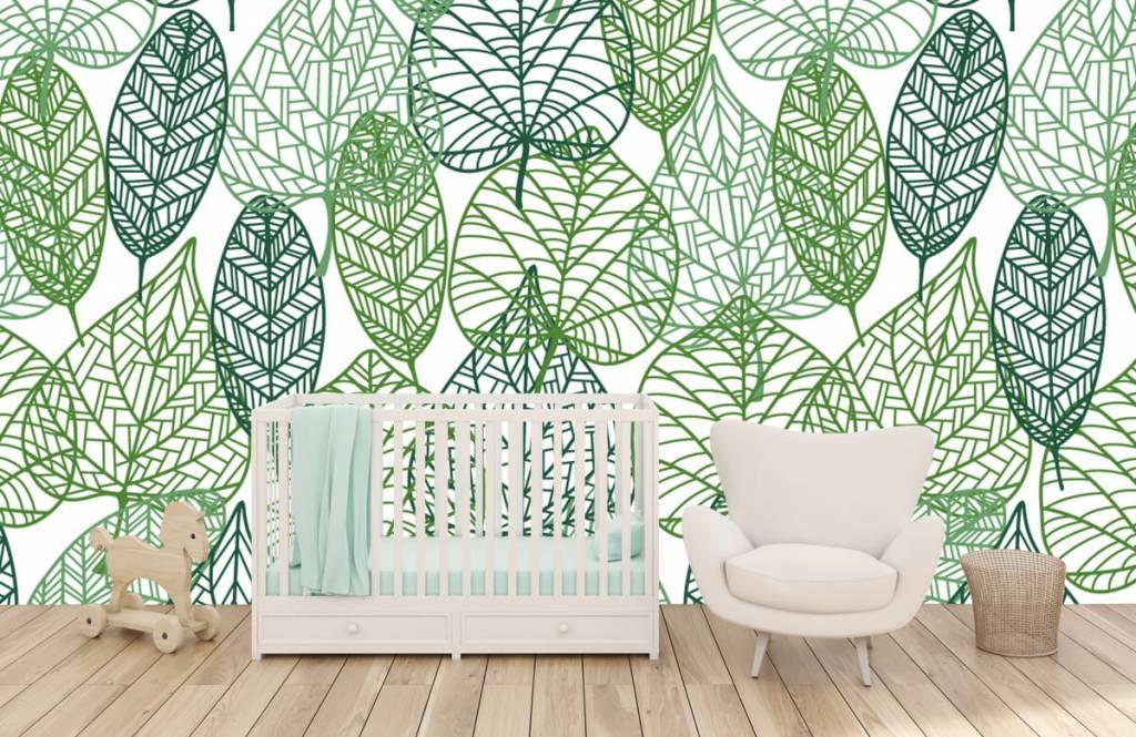 Leaves - Feuilles vertes éparpillées - Chambre d'hobby 1