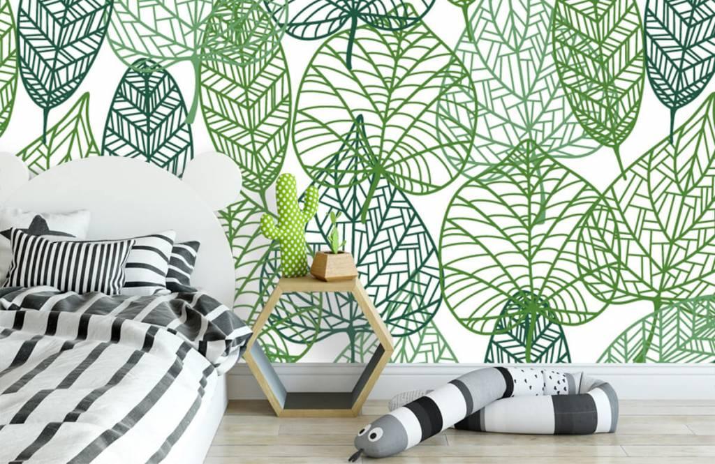 Leaves - Feuilles vertes éparpillées - Chambre d'hobby 3