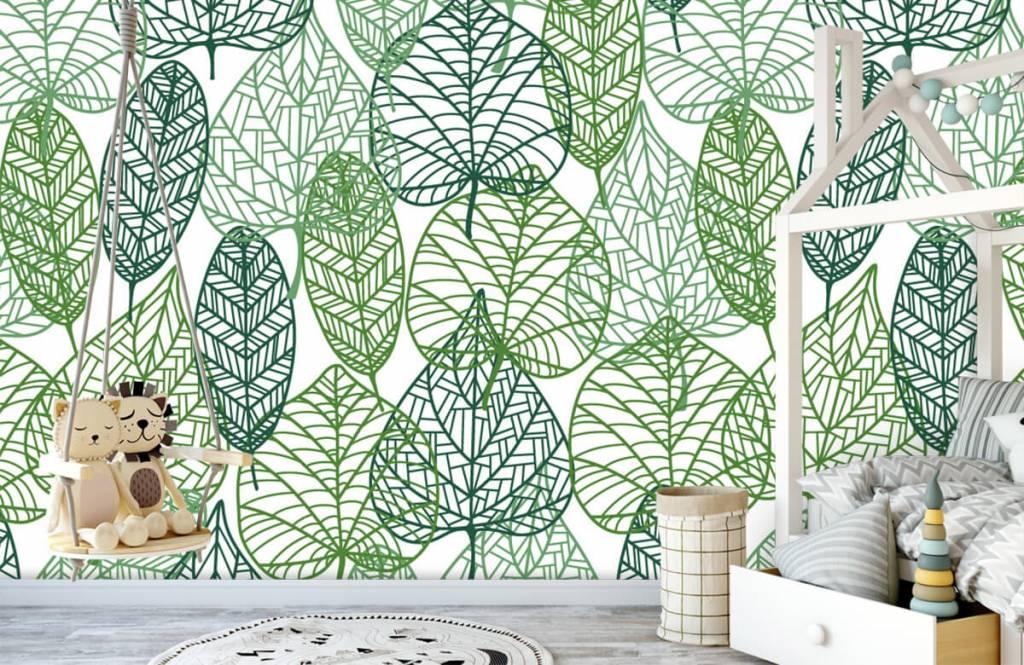 Leaves - Feuilles vertes éparpillées - Chambre d'hobby 4