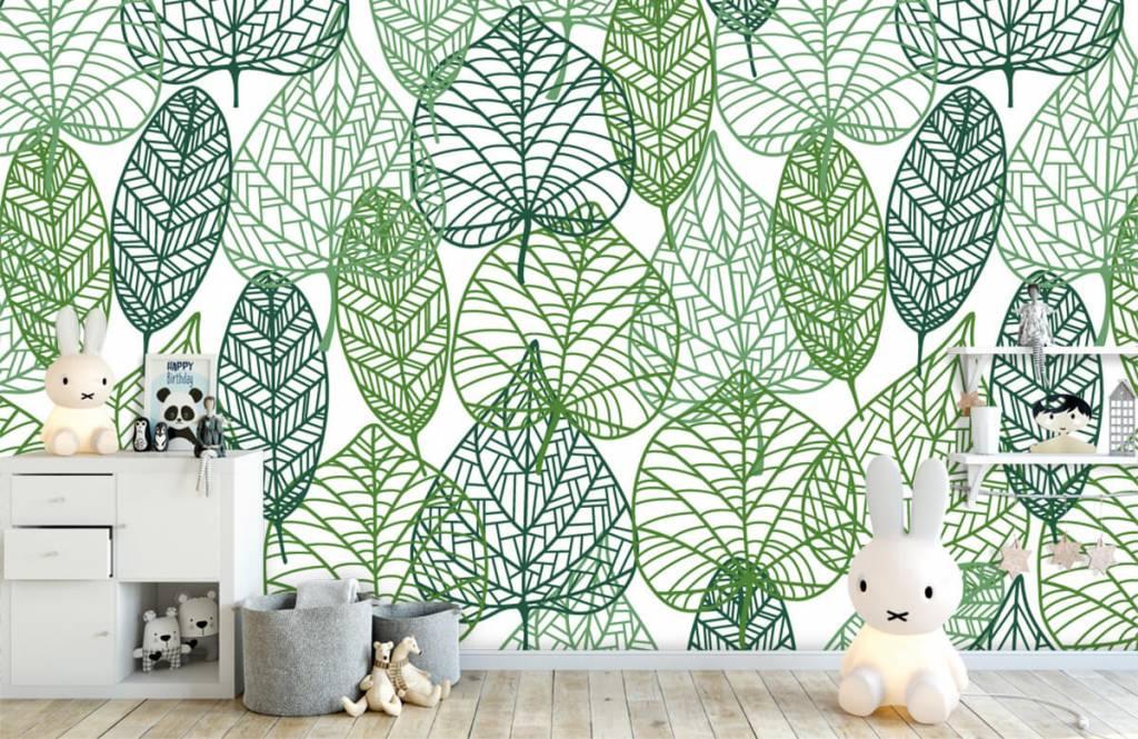 Leaves - Feuilles vertes éparpillées - Chambre d'hobby 5