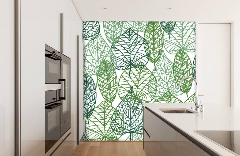 Leaves - Feuilles vertes éparpillées - Chambre d'hobby 6