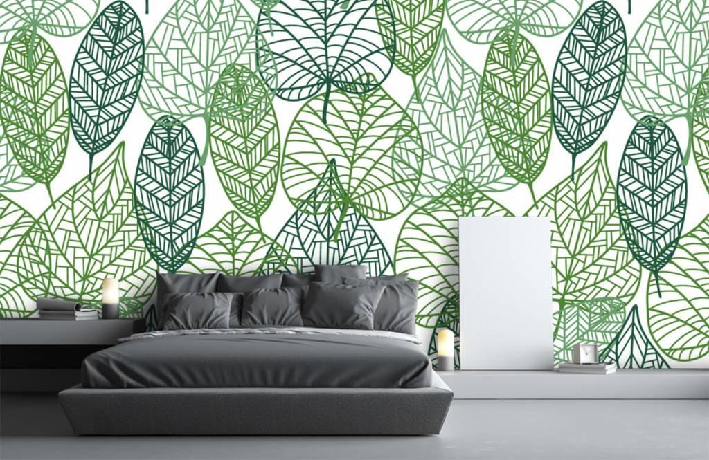 Leaves - Feuilles vertes éparpillées - Chambre d'hobby 7