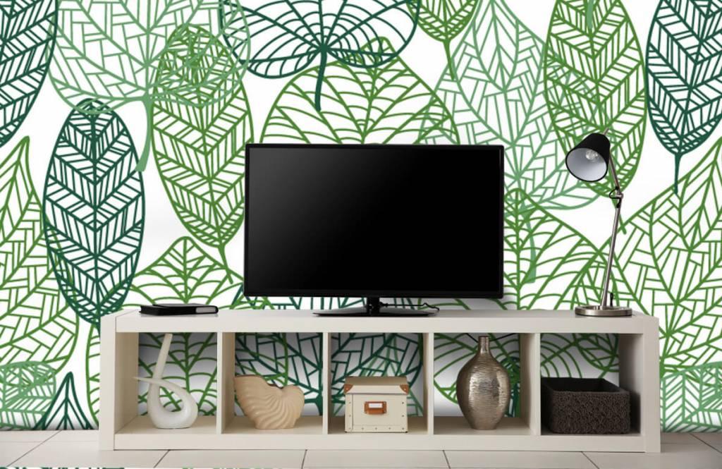 Leaves - Feuilles vertes éparpillées - Chambre d'hobby 8