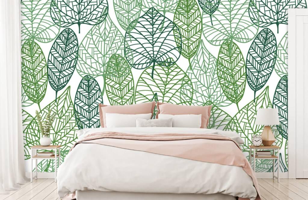 Leaves - Feuilles vertes éparpillées - Chambre d'hobby 9