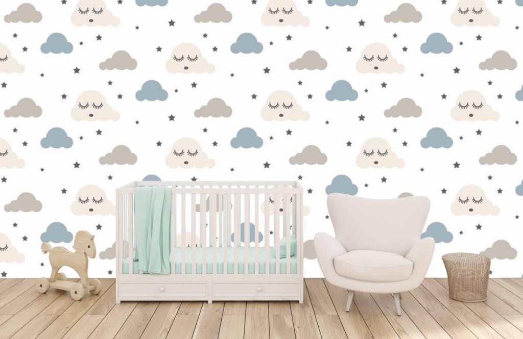 Papier peint bébé - Nuages dormants - Chambre de bébé 6