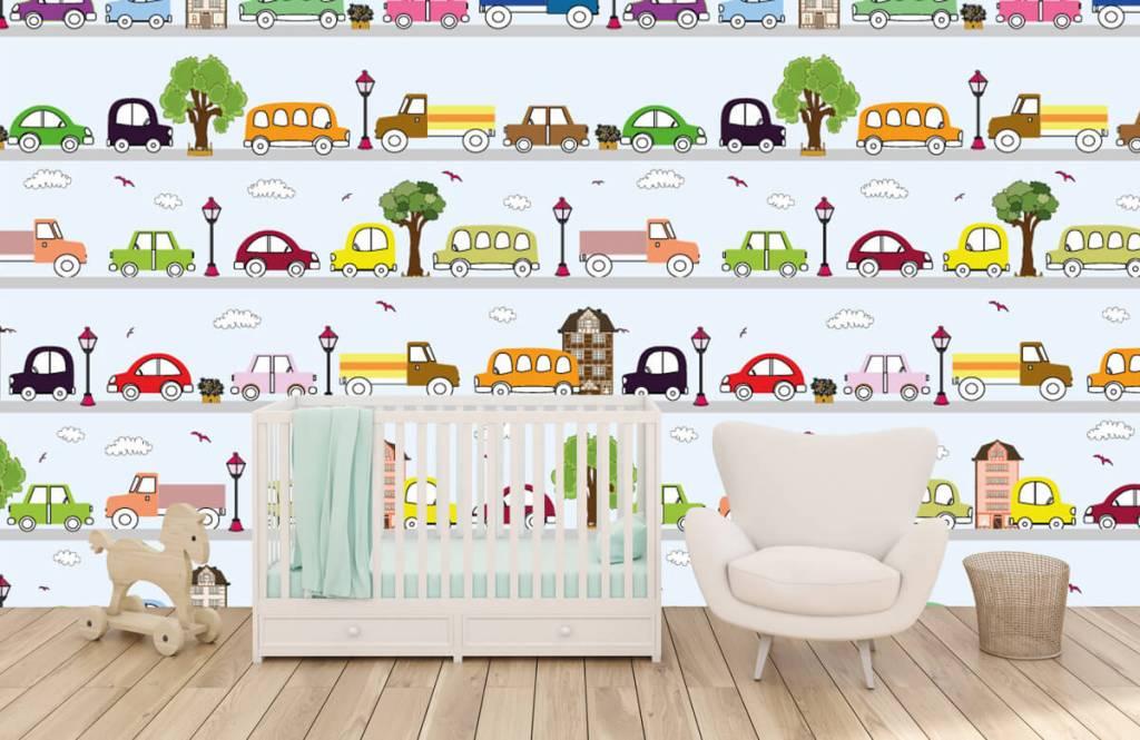 Papier peint bébé - Véhicules - Chambre de bébé 1