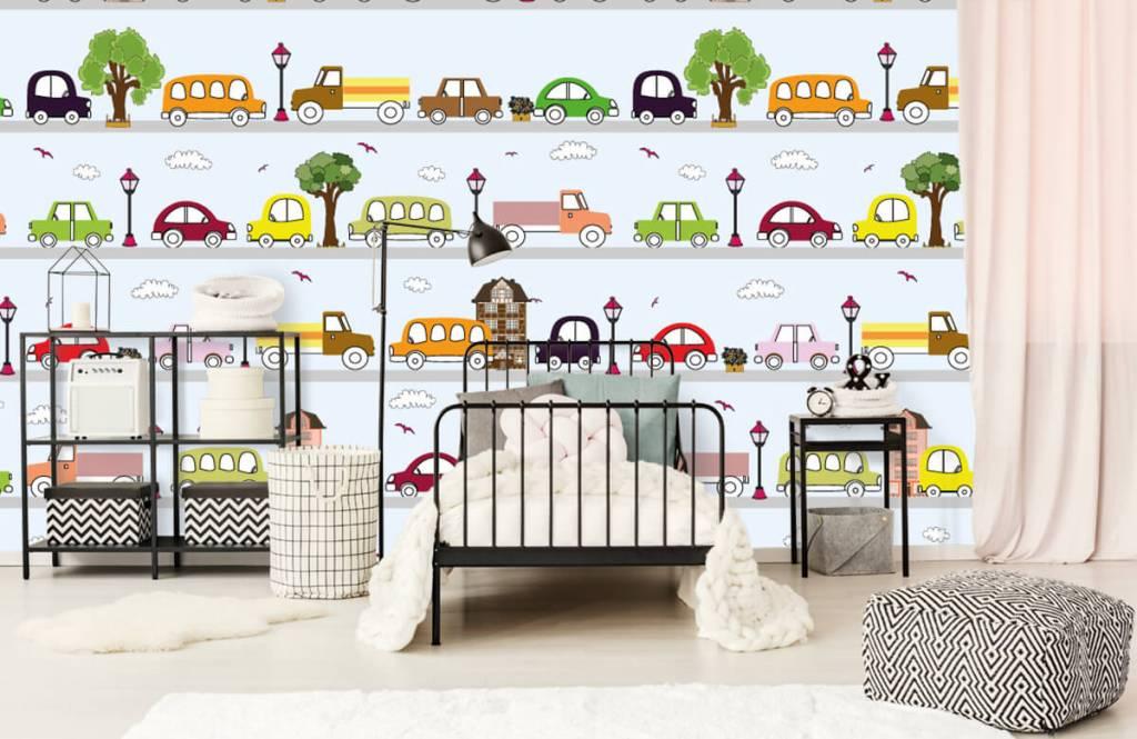 Papier peint bébé - Véhicules - Chambre de bébé 3