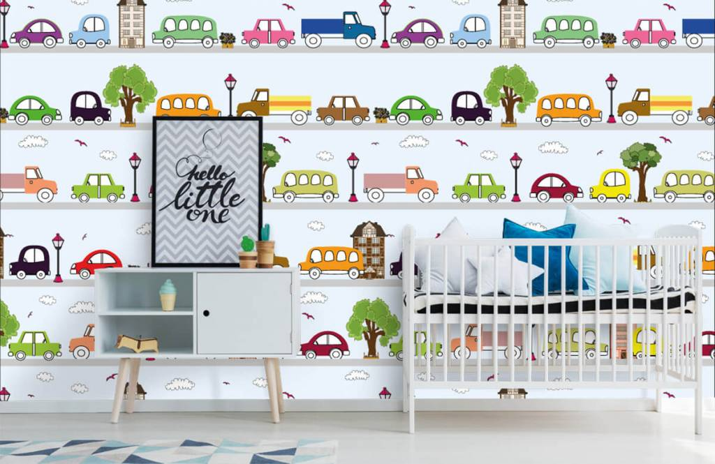 Papier peint bébé - Véhicules - Chambre de bébé 5