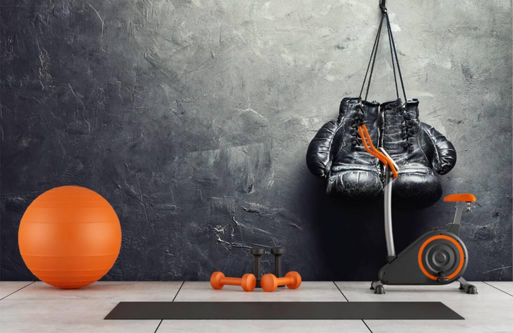 Fitness - Gants de boxe noirs - Chambre d'hobby 1