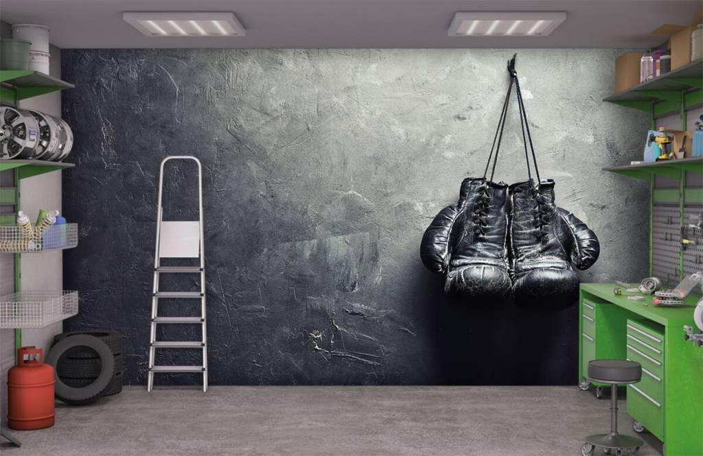 Fitness - Gants de boxe noirs - Chambre d'hobby 3