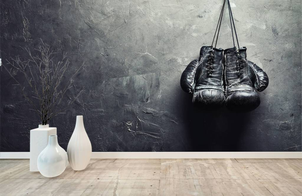 Fitness - Gants de boxe noirs - Chambre d'hobby 9