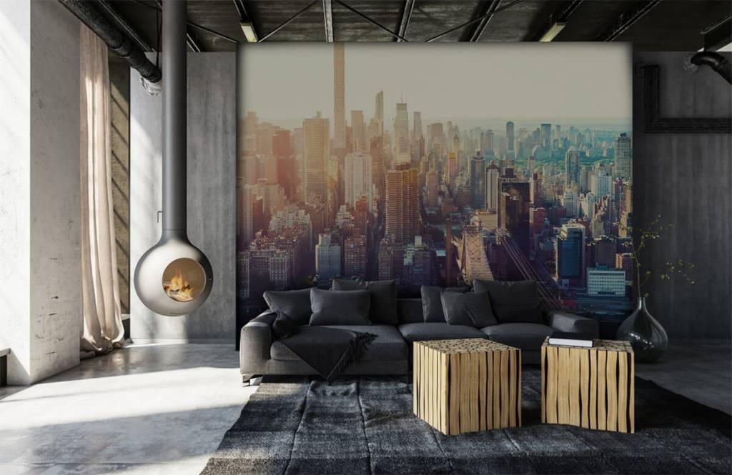 Papier peint rétro - ville de New York - Chambre d'adolescent 6
