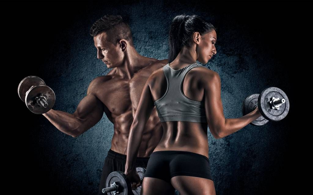 Fitness - Couple athlétique - Chambre d'hobby