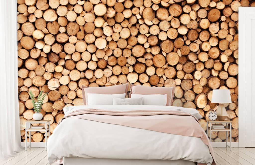 Papier peint en bois - Bois de feu- Salle de séjour 2