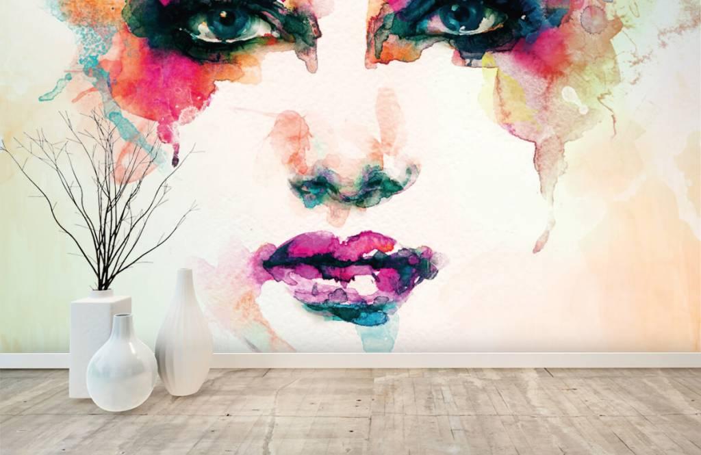 Portets and faces - Tête abstraite - Salle de séjour 1