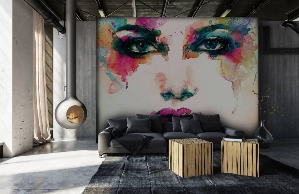 Portets and faces - Tête abstraite - Salle de séjour 4