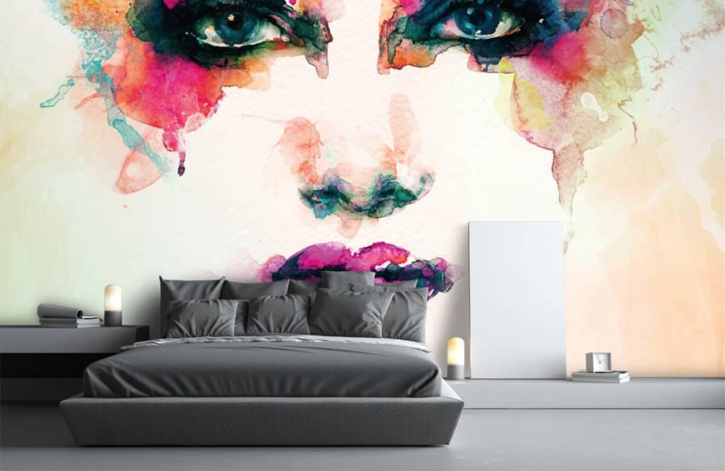 Portets and faces - Tête abstraite - Salle de séjour 7