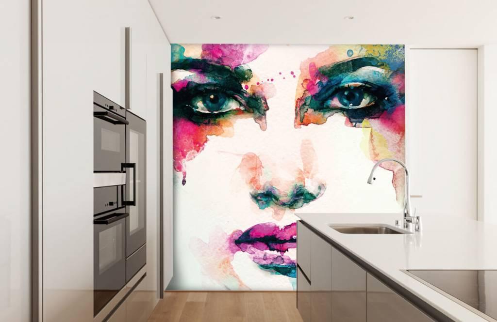 Portets and faces - Tête abstraite - Salle de séjour 8