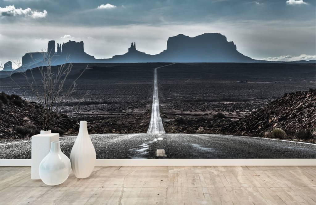 Papier peint Paysage - Longue route en Arizona - Chambre à coucher 1