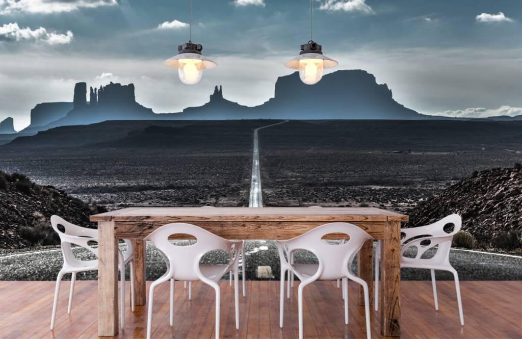 Papier peint Paysage - Longue route en Arizona - Chambre à coucher 2