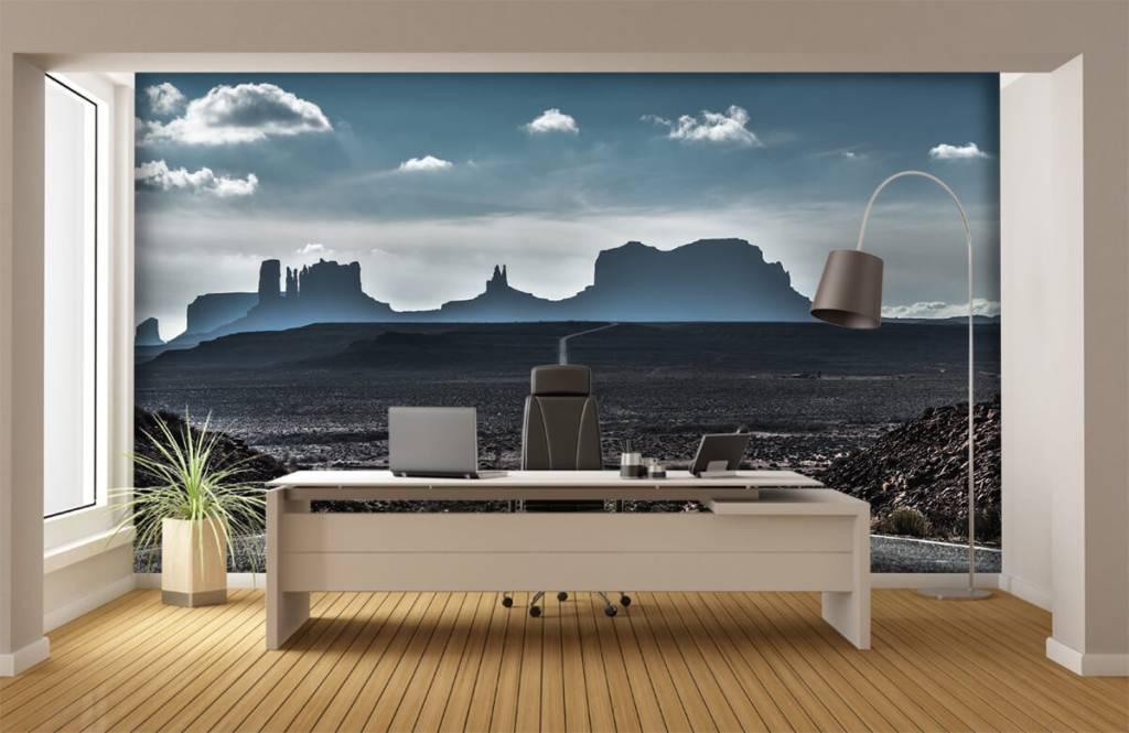 Papier peint Paysage - Longue route en Arizona - Chambre à coucher 5