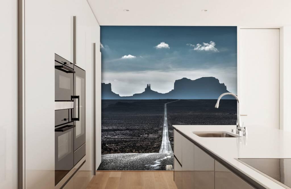 Papier peint Paysage - Longue route en Arizona - Chambre à coucher 6