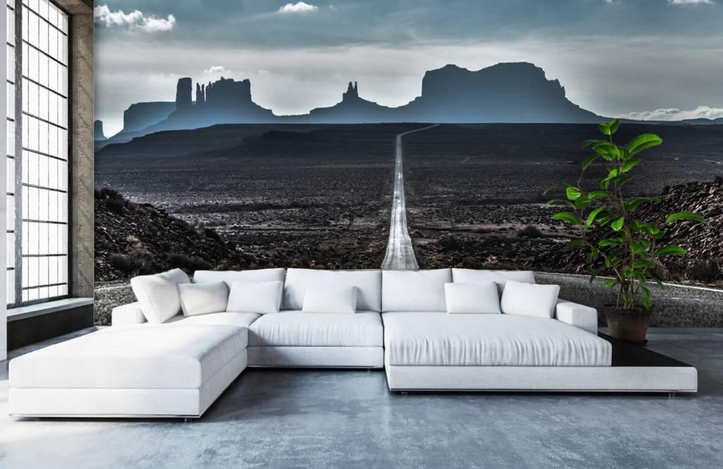 Papier peint Paysage - Longue route en Arizona - Chambre à coucher 7