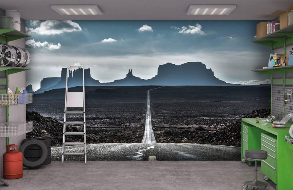 Papier peint Paysage - Longue route en Arizona - Chambre à coucher 9