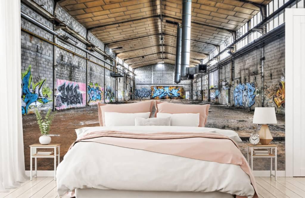 Buildings - Vieux hall d'usine abandonnée - Chambre d'adolescent 2