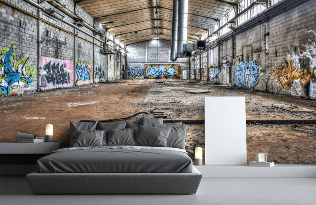 Buildings - Vieux hall d'usine abandonnée - Chambre d'adolescent 3