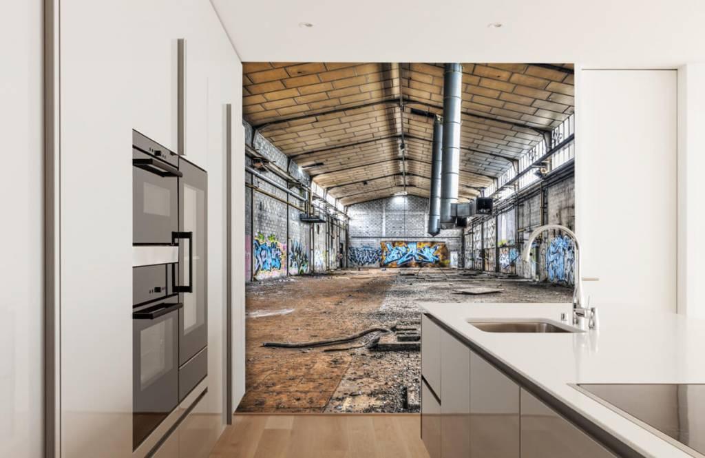 Buildings - Vieux hall d'usine abandonnée - Chambre d'adolescent 4