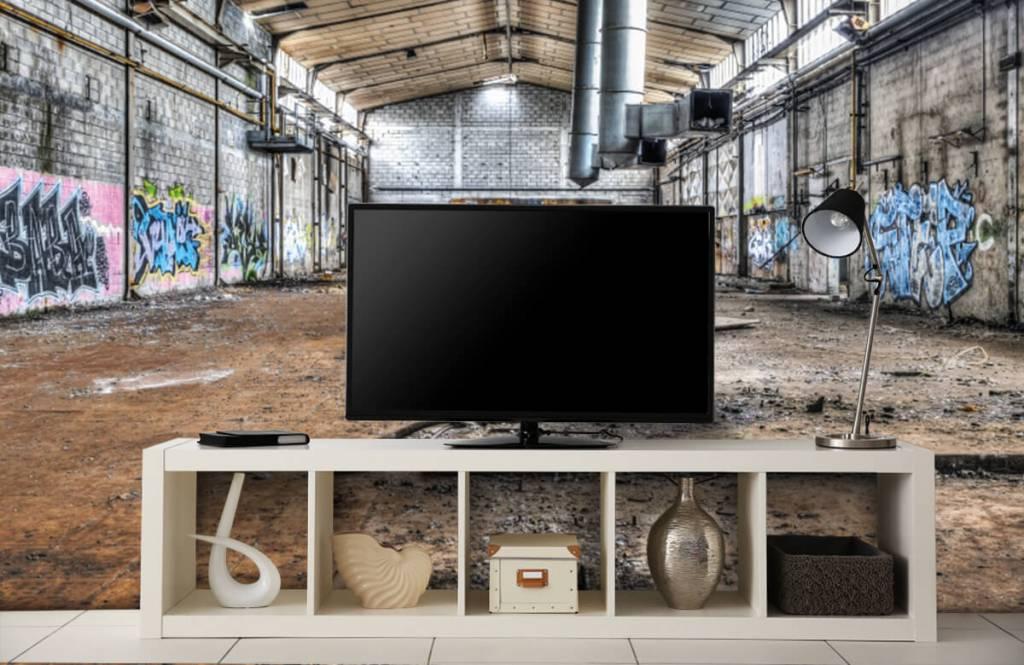 Buildings - Vieux hall d'usine abandonnée - Chambre d'adolescent 5