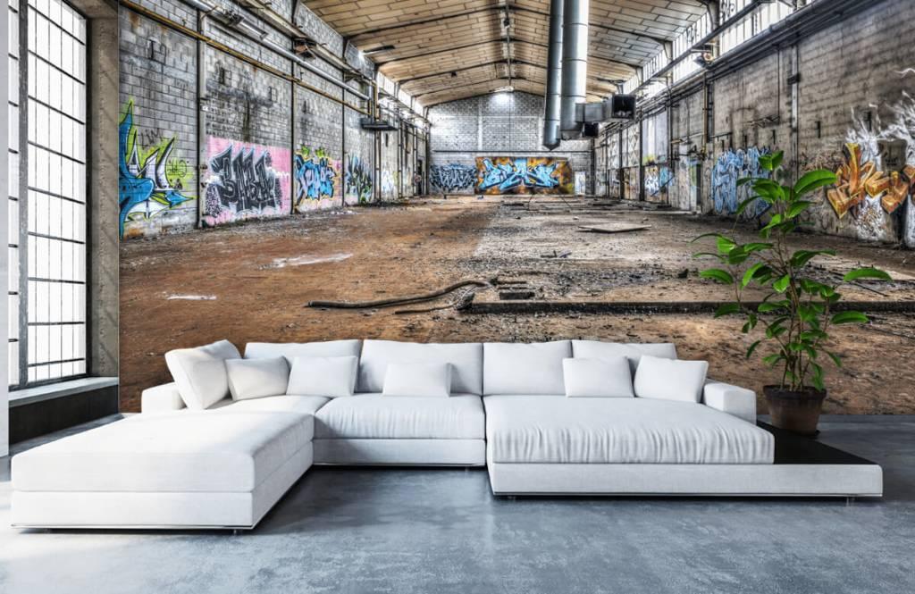 Buildings - Vieux hall d'usine abandonnée - Chambre d'adolescent 6