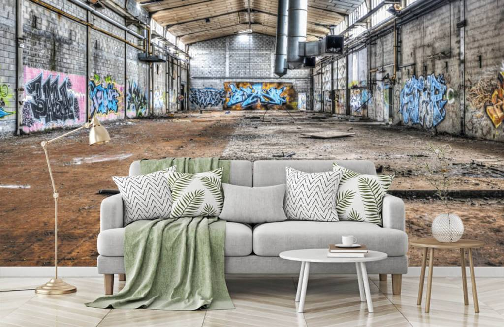Buildings - Vieux hall d'usine abandonnée - Chambre d'adolescent 7