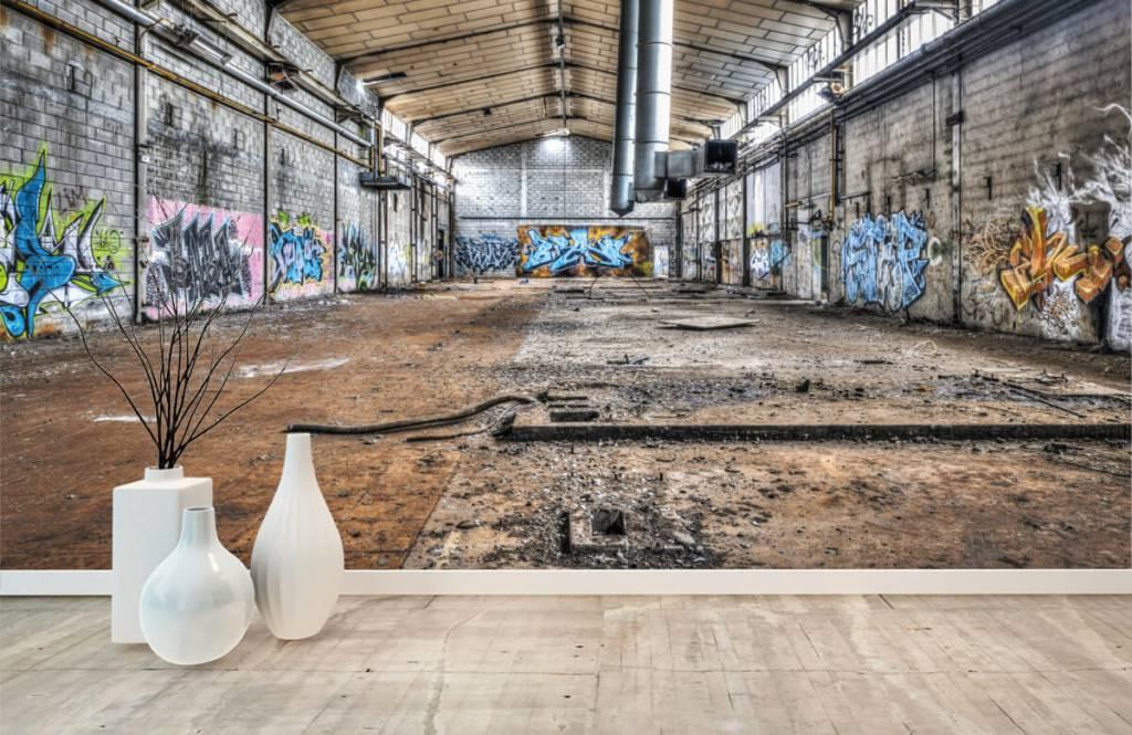 Buildings - Vieux hall d'usine abandonnée - Chambre d'adolescent 8