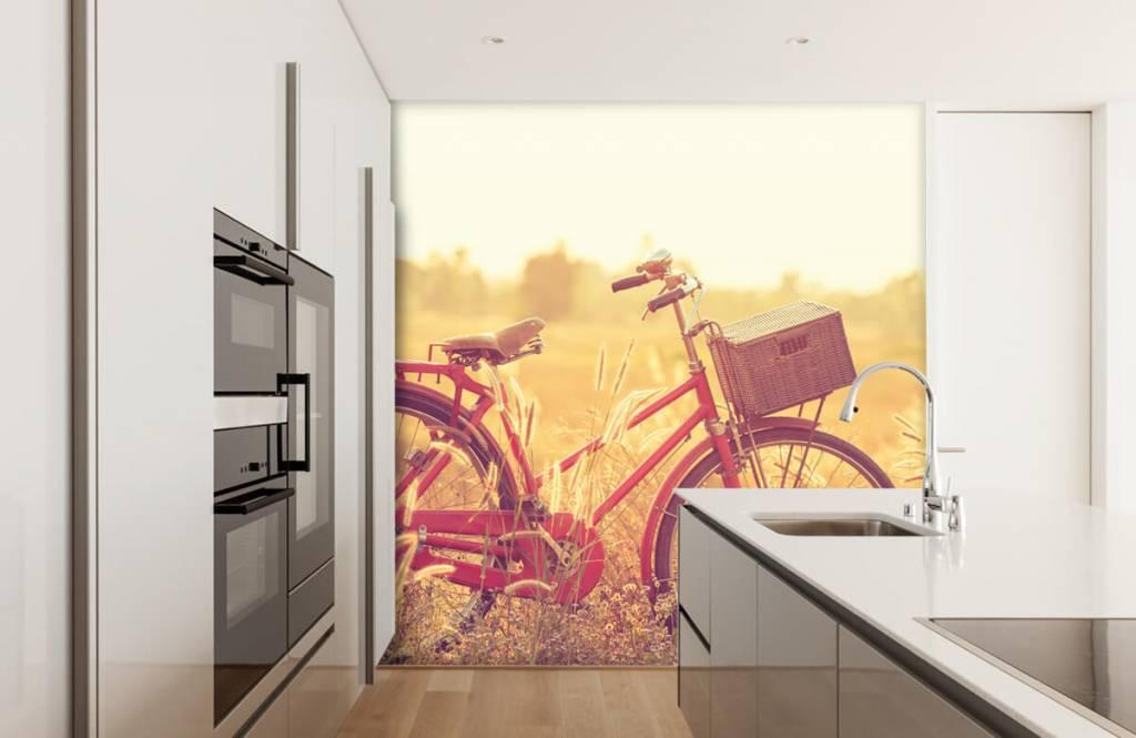 Papier peint Paysage - Vélo d'époque - Chambre à coucher 3