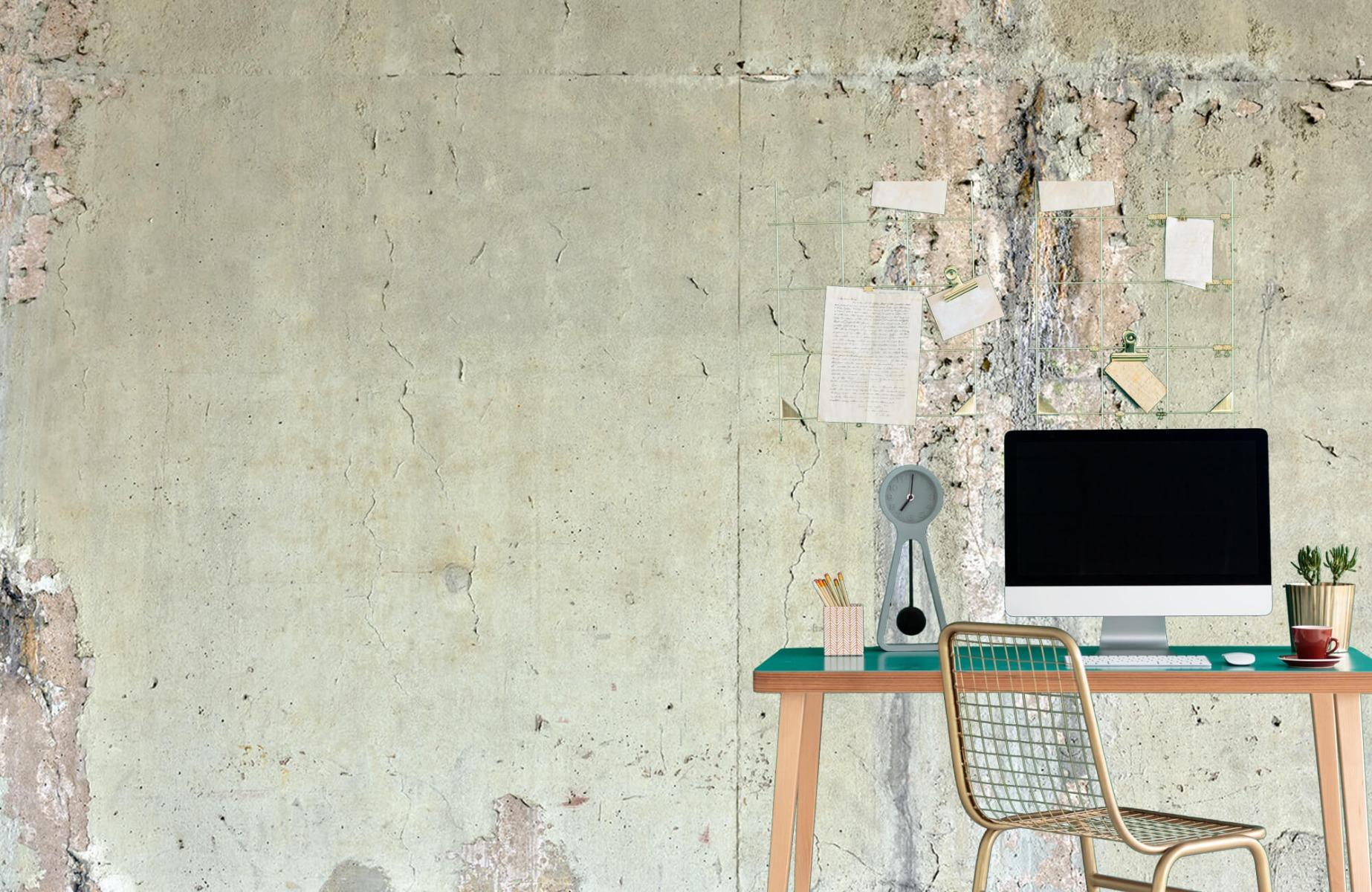 Papier peint aspect concret - Ancien béton - Chambre d'adolescent 8