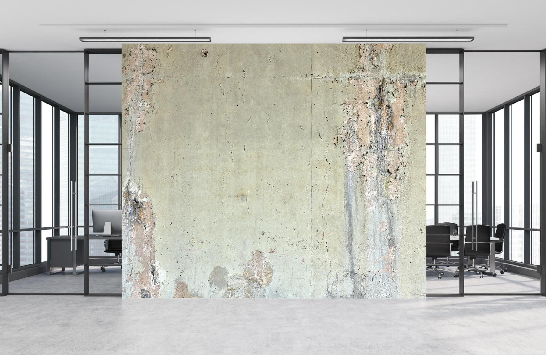 Papier peint aspect concret - Ancien béton - Chambre d'adolescent 9