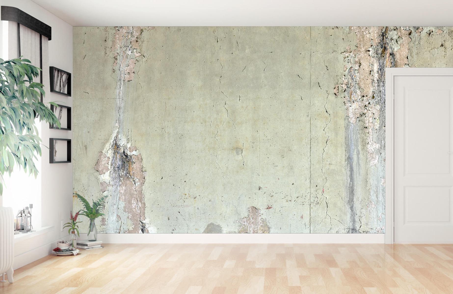 Papier peint aspect concret - Ancien béton - Chambre d'adolescent 12