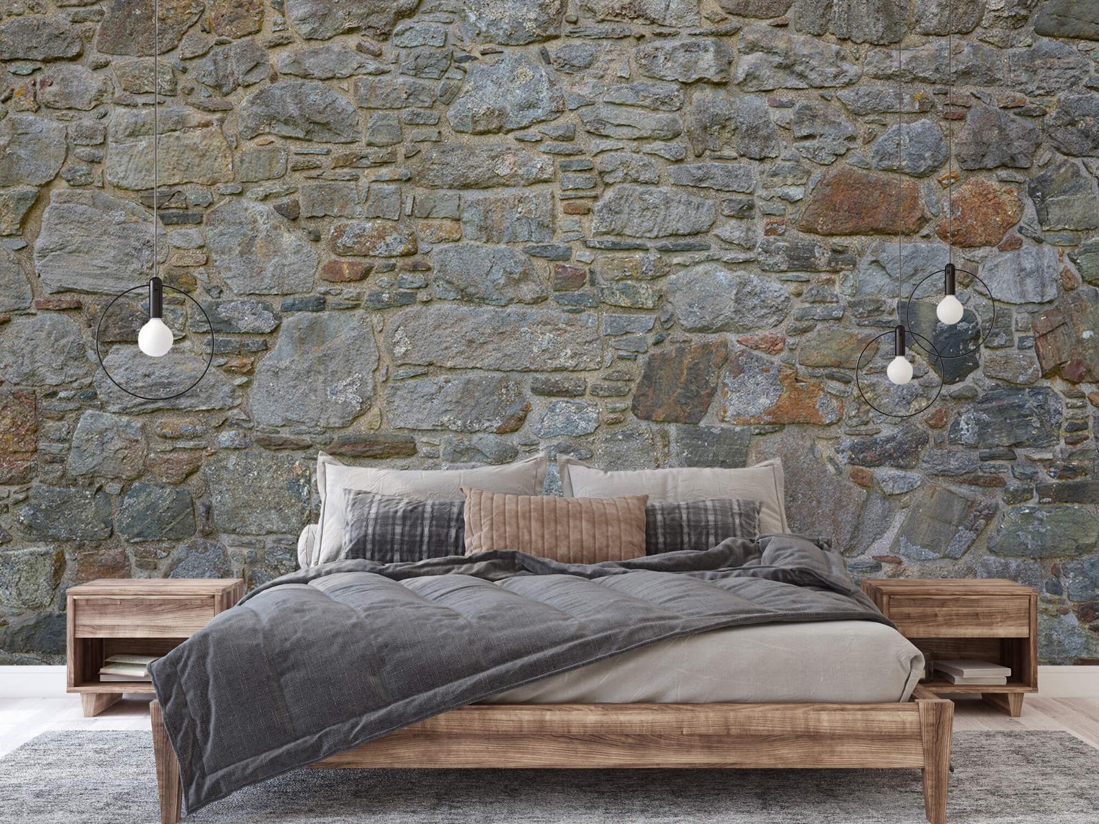Papier peint en pierre - Mur de pierre médiéval - Chambre à coucher 2