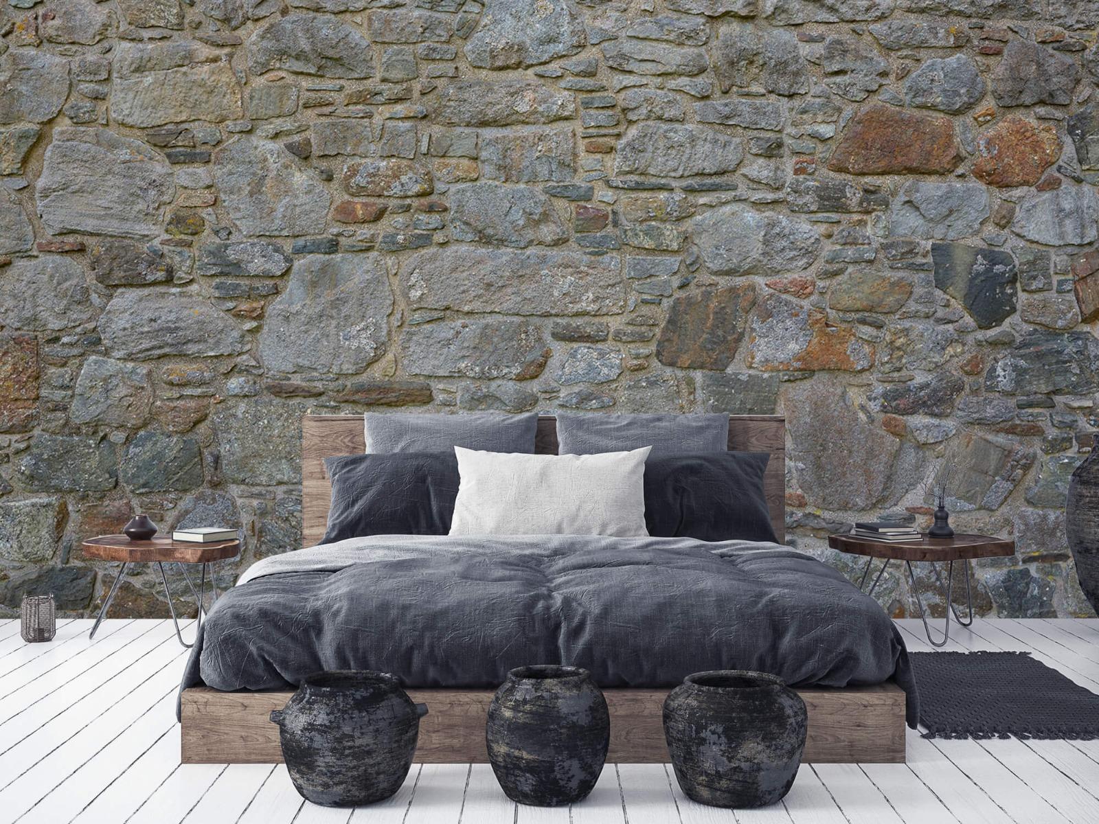 Papier peint en pierre - Mur de pierre médiéval - Chambre à coucher 6