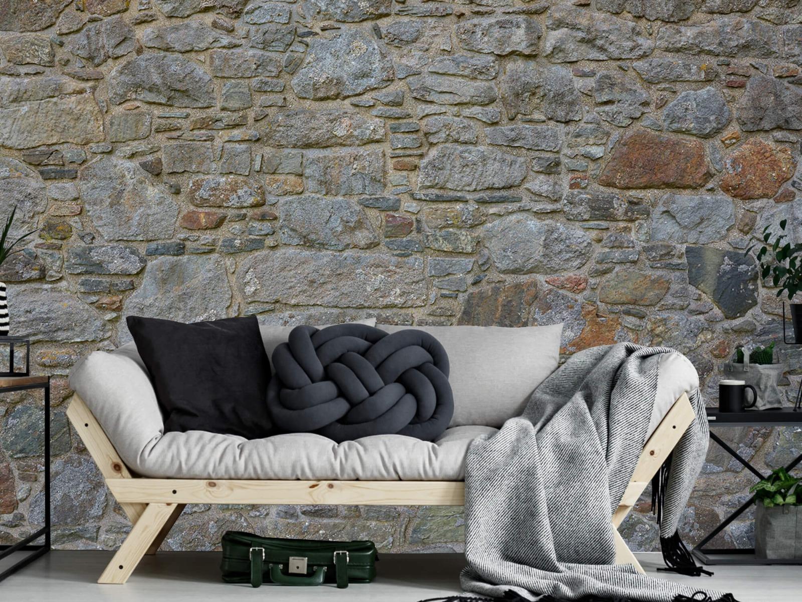 Papier peint en pierre - Mur de pierre médiéval - Chambre à coucher 7