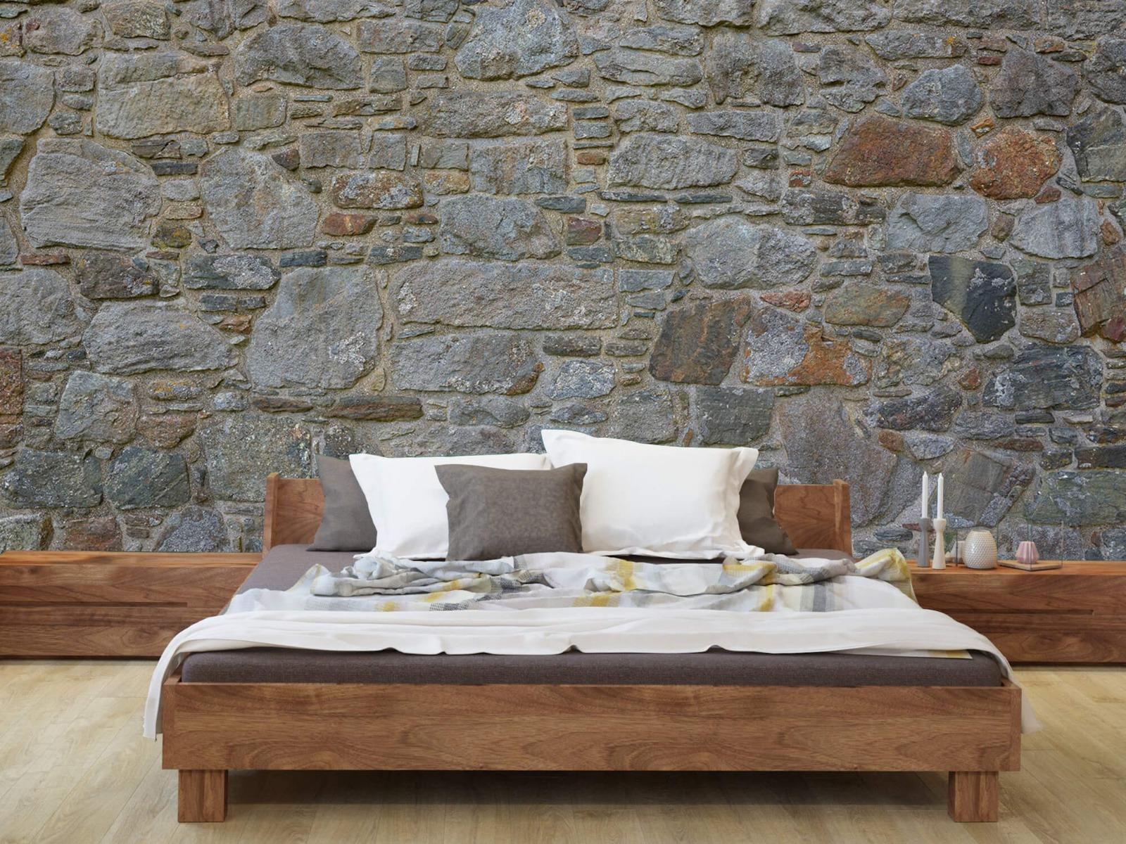 Papier peint en pierre - Mur de pierre médiéval - Chambre à coucher 8